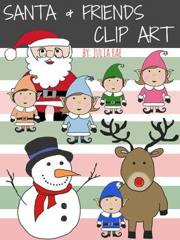 Santa & Friends (Digital Clip Art)
