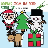 Santa Fun - Clipart Graphics for Commercial + Teaching