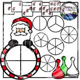 Santa Spinner Games Clipart Bundle
