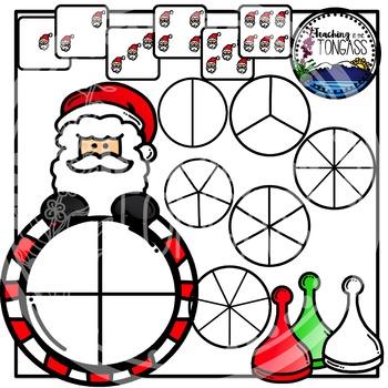 Santa Clipart Bundle Spinner Games