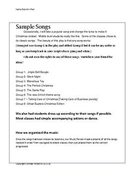 Santa Gets An iPad- Hilarious Christmas Concert for your Elementary School!