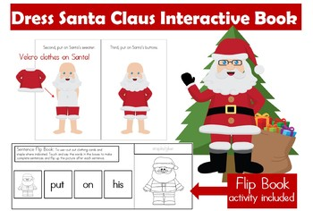 Santa Gets Dressed Interactive & Adapted Book