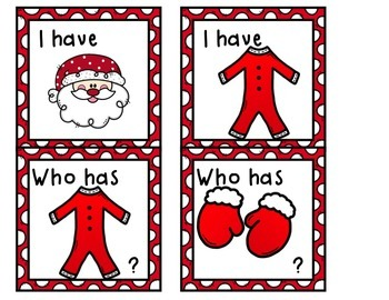 Santa Gets Dressed  Letters/Beginning Sounds/Numbers/Centers/Games