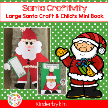 Santa Goes Shopping! Craft and writing activities