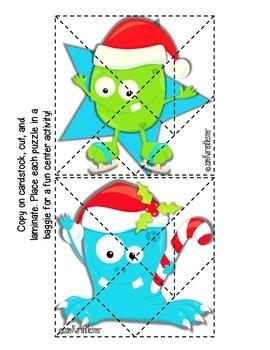 Santa-Grams Tangram Puzzles FREEBIE
