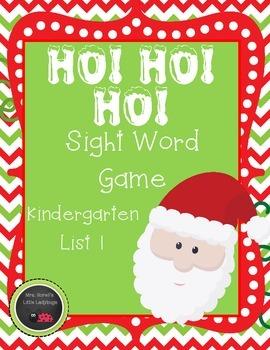 Santa HO! HO! Ho! Sight Word Game