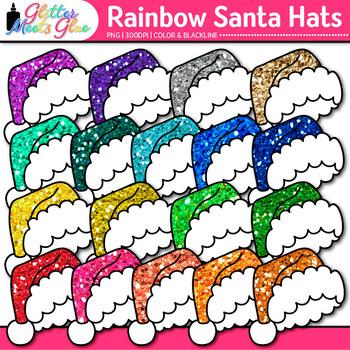 Santa Hat Clip Art: Christmas Graphics {Glitter Meets Glue} 1