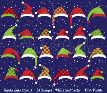 Santa Hat Clipart Clip Art, Christmas Clipart, Christmas Clip Art