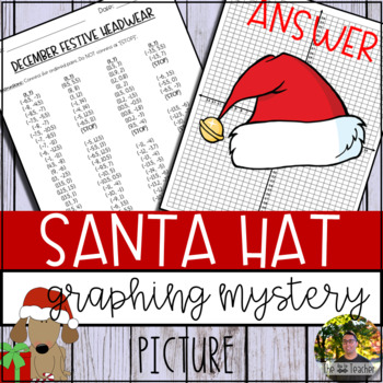Santa Hat Graphing Mystery Picture (Coordinate Grid & Ordered Pairs)