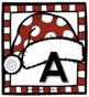 Santa Hat Letter Recognition Memory Match Activity