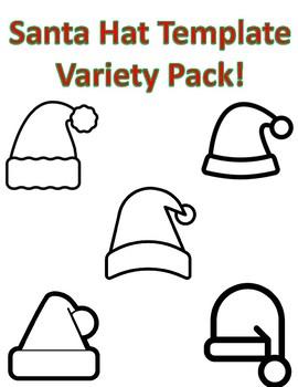 santa hat templates christmas santa hat coloring pages santa hat