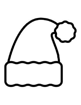 Santa Hat Templates Christmas Santa Hat Coloring Pages Santa Hat Outlines