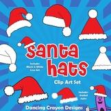 Santa Hats Clipart