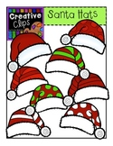 Santa Hats {Creative Clips Digital Clipart}