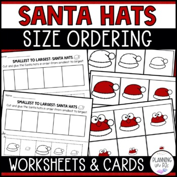 Santa Hats Size Ordering (From Smallest to Largest)
