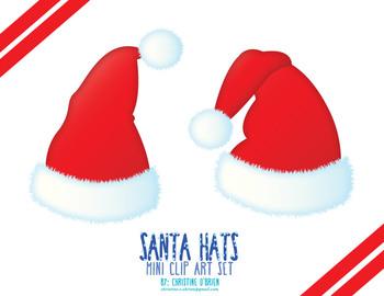 Santa Hats Mini Clip Art Set