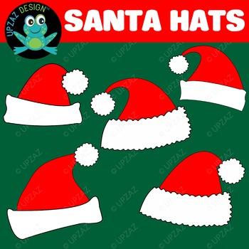 Santa Hats {Upzaz Digital Clipart}