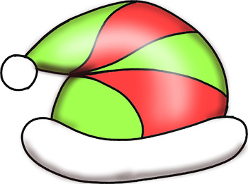 Santa Hats and Stocking Clip Art
