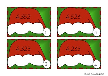 Santa Helper Ordering Numbers to Thousands Place