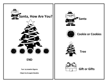 Santa, How Are You-Christmas Emergent Reader Book-Color/BW (commercial/personal)