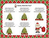 Christmas Song - Santa, How Are You + Sing-Along Track (mp3)