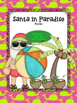 Santa In Paradise - Writing Fix-Its (CCSS aligned editing task cards)