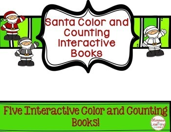 Santa Interactive Color and Counting Book