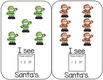 Santa Interactive Counting book to 12