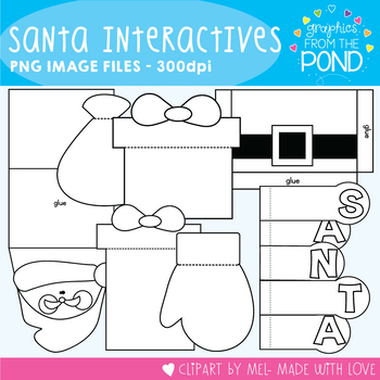 Santa Interactives -  Template Set Great for Interactive Notebooks!