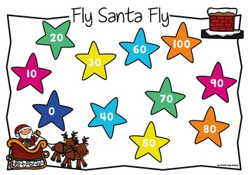 Christmas Game - Fly Santa Fly - Counting by Tens to 100