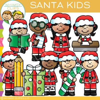 Santa Kids Christmas Clip Art