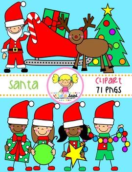 Santa Kids Clipart