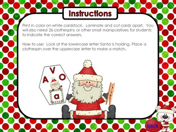 Santa Knows His ABCs (7 Letter Discrimination Activity Pack)