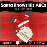 Santa Knows His ABCs (7 Letter Discrimination Activity Pack)