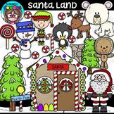 Santa Land Clipart {Scrappin Doodles Clipart}