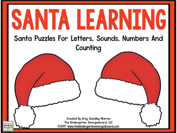 Santa Learning! Puzzles for Letters, Sounds, Numbers & Counting