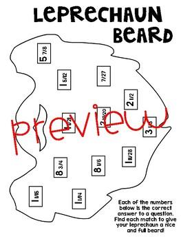 Santa/Leprechaun Beard for Fraction Operations (Add, Subtract, Multiply, Divide)
