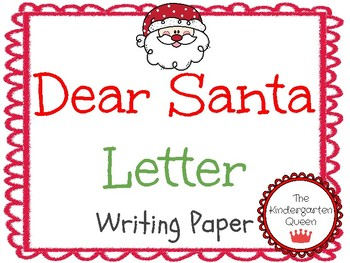 Santa Letter Christmas List Writing Paper
