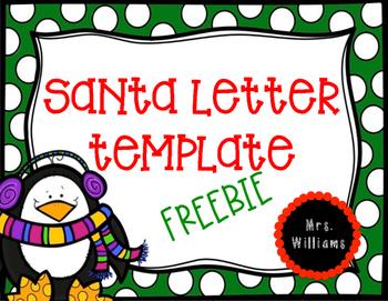 Santa Letter FREEBIE