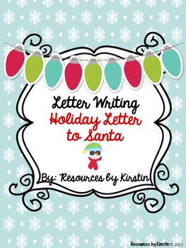 Santa Letter Foldables