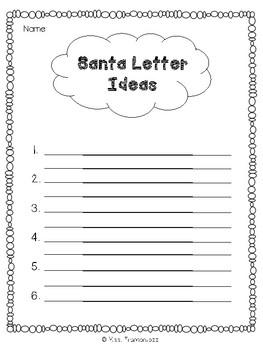 Santa Letter Idea List