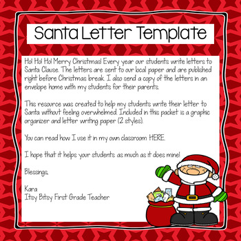 Santa letter template by itsy bitsy first grade teacher tpt spiritdancerdesigns Choice Image