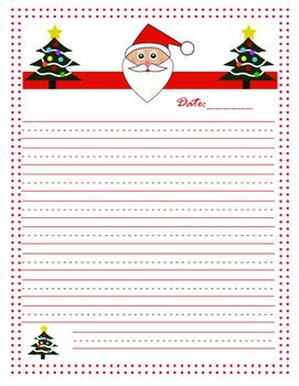 Santa Letter Template-K-4