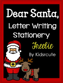 Santa Letter Writing Paper {Freebie}