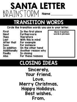Santa Letter Writing Templates