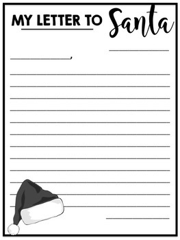 Santa letter writing templates by miss west best tpt santa letter writing templates spiritdancerdesigns Gallery