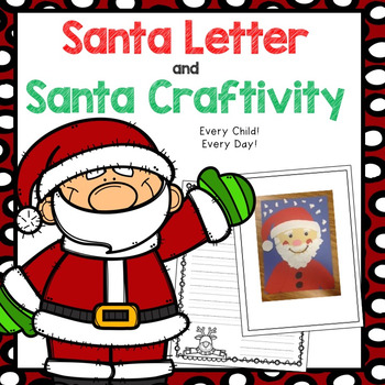 Santa Letter and Craftivity