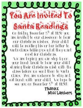 Santa Letter and Santa Letter Reading
