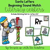Santa Letter and Stamps Beginning Sounds Match!