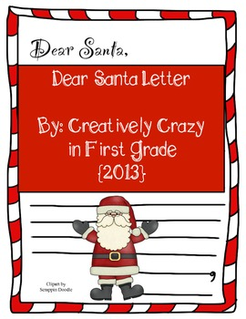 Santa Letter in Color and Black and White